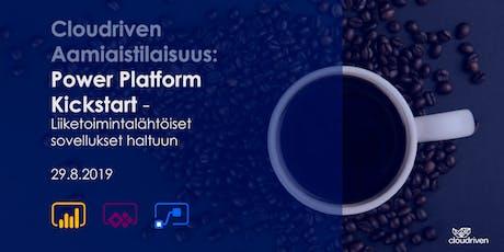 Cloudriven aamiaistilaisuus: Power Platform Kickstart tickets