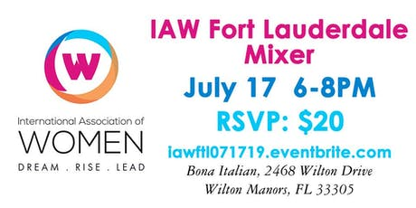 IAW Fort Lauderdale July 17 Mixer tickets