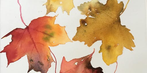 Autumn Leaves In Ink & Watercolour Workshop
