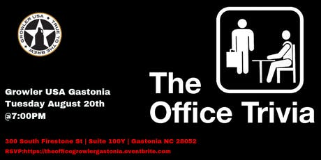 The Office Trivia at Growler USA Gastonia tickets