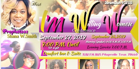 Willing Women Conference 2019     DiamondShanaMinistry tickets