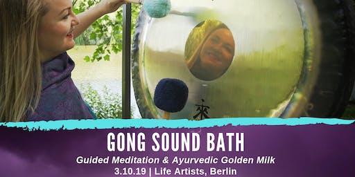 Gong Sound Bath, Guided Meditation & Ayurvedic Golden Milk