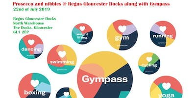 Prosecco and nibbles with Regus Gloucester Docks along with Gympass