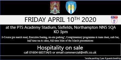 COLCHESTER UNITED AT NORTHAMPTON TOWN FOOTBALL CLUB