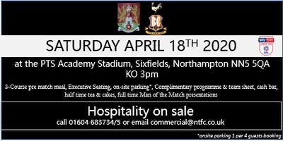 BRADFORD CITY HOSPITALITY AT NORTHAMPTON TOWN FOOTBALL CLUB