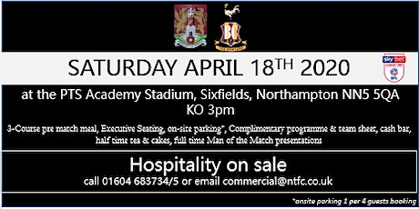 BRADFORD CITY HOSPITALITY AT NORTHAMPTON TOWN FOOTBALL CLUB tickets