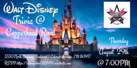 Disney Movie Trivia at Copperhead Road Bar & Nightclub tickets