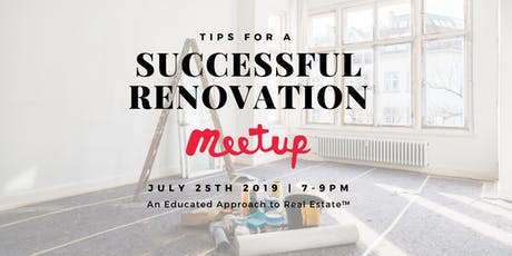 Tips For A Successful Home Renovation tickets