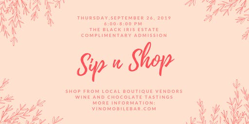 Annual Fall Sip n Shop Boutique Event