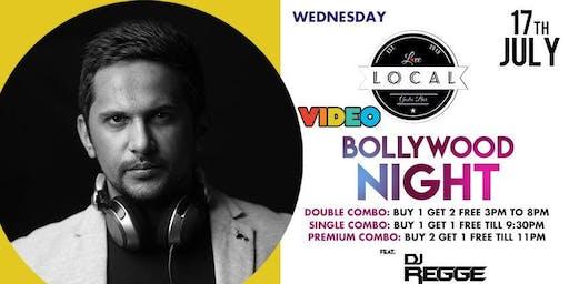 Wednesday VIDEO Bollywood Night - Dj Regge