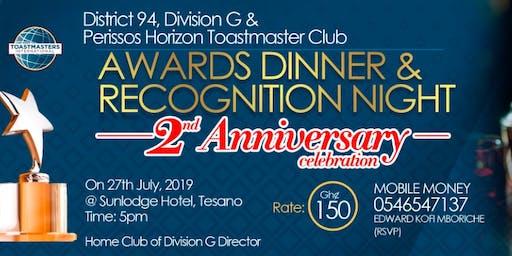 Dinner & Awards Night - Division G & Perissos Horizon Toastmasters