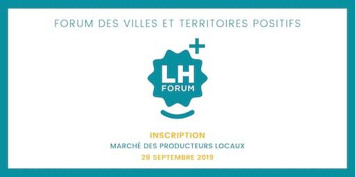 LH Forum - Réservation stand - Marché des producteurs locaux