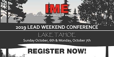 IME 2019 LEAD Conference, Lake Tahoe, NV
