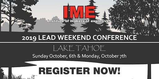 IME 2019 LEAD Conference, Lake Tahoe, NV