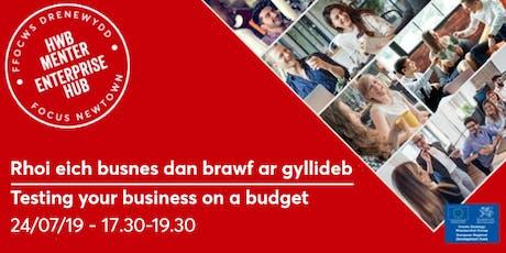 Testing your business on a budget | Rhoi eich busnes dan brawf ar gyllideb tickets