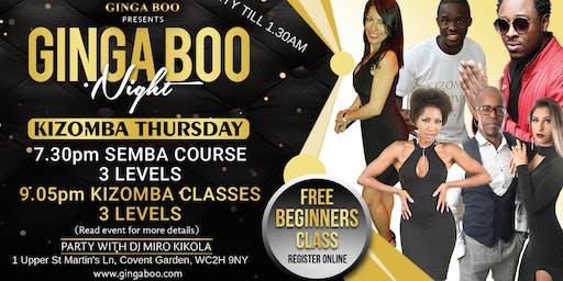 Kizomba Thursday - 3 levels Semba course & 3 levels Kizomba Classes & Party
