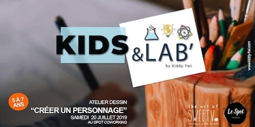 """Kids & Lab', le rendez-vous fun et créatif -  Atelier Dessin """"Crée ton personnage"""""""