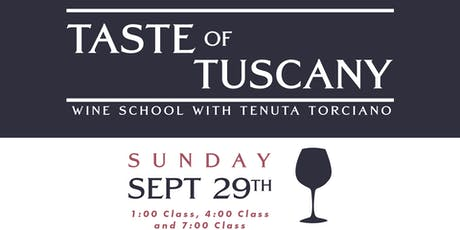 Taste of Tuscany Wine School tickets