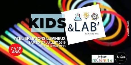 """Kids & Lab', le rendez-vous fun et créatif - Atelier """"Fabrique ton baton lumineux"""" billets"""