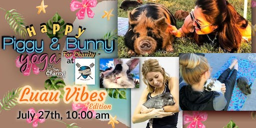 Happy Piggy & Bunny Yoga-For Charity: Luau Vibes! at Panther Island Brewing