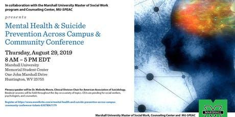 Mental Health and Suicide Prevention Across Campus & Community Conference tickets