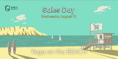 Yoga on the beach #SALESday #sport #Startit@KBSEA