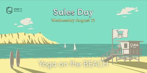 Yoga on the beach #SALESday #sport #Startit@KBSEA