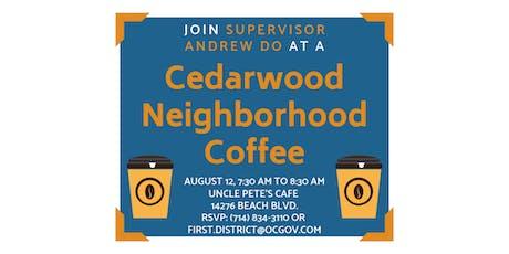 Cedarwood Neighborhood Coffee with Supervisor Andrew Do tickets