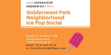 Goldenwest Park Neighborhood Ice Pop Social tickets