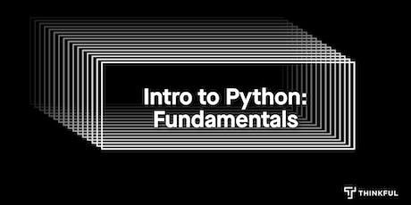 Intro to Python: Fundamentals tickets