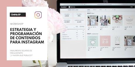 Workshop: Estrategia y programación de contenidos para Instagram boletos
