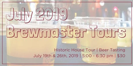 July Brewmaster Tours tickets