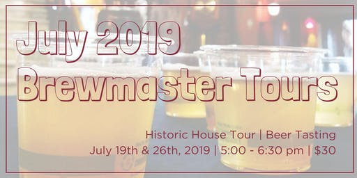 July Brewmaster Tours