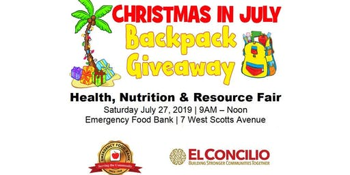 Christmas in July Backpack Giveaway
