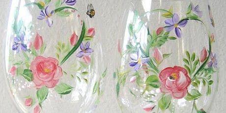 Summer Wine Glass Painting Event tickets