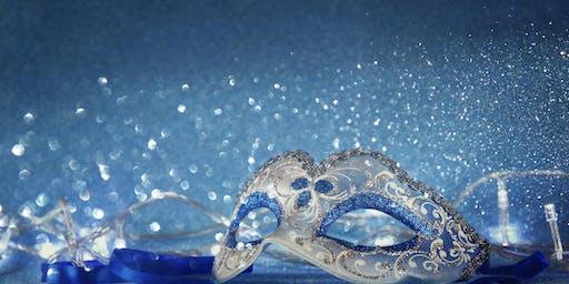 Masquerade Blue & White