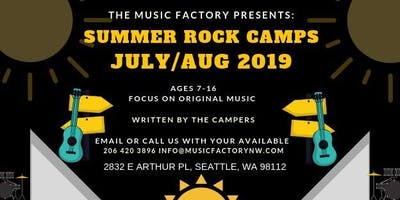 2019 Summer ROCK CAMP! at the Music Factory