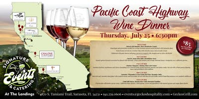 Wine of the Pacific Coast Highway- A Four Course Sip, Savor & Dining Tour at Signature Events & Catering