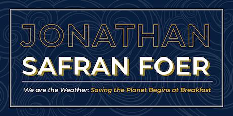 Jonathan Safran Foer Author Talk & Book Signing entradas