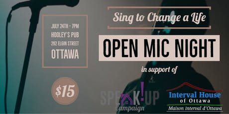 """Sing to  Change a Life"" Open Mic Night tickets"