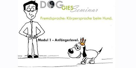 "DOGGIES Seminar: ""Körpersprache beim Hund"", Modul 1 (Anfängerlevel) Tickets"