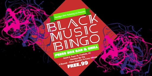 Black Music Bingo at Press Box Bar & Grill