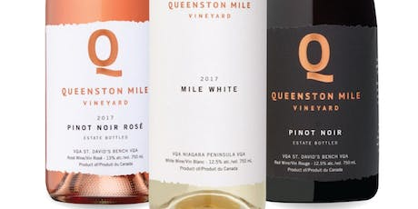 Ontario Wine Society Presents Queenston Mile Vineyard from Niagara On The Lake at Michaels On The Thames tickets