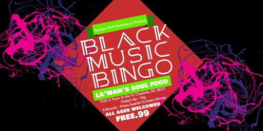 Black Music Bingo at La'Wan's Soul Food