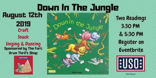 "USO Fort Drum Story Time ""Down in The Jungle"" Sponsored by Fort Drum Thrift Shop"