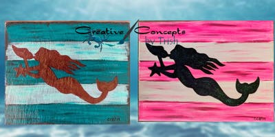 Mermaid Slate or Canvas Paint Night