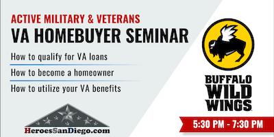 Military and Veterans VA Homebuyer & VA Loan Seminar