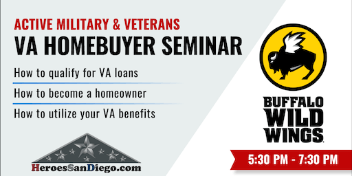 Military and Veterans VA Homebuyer & VA Loan Seminar