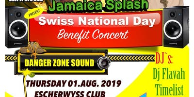 Jamaica splash Swiss National day benefit concert