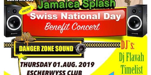 Jamaica splash Swiss National day benefit concert